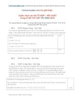 Tuyển chọn các bài toán tổ hợp xác suất trong các đề thi thử 2015 có lời giải