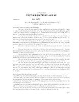 PHẦN THỨ BA THIẾT BỊ ĐIỆN CHUNG CAP ÁP - CHƯƠNG 10 DAO CẮT, GIÁO TRÌNH THIẾT BỊ ĐIỆN