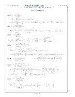 Bài tập tích phân hàm mũ, logarit có lời giải