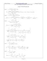 Bài tập tích phân hàm lượng giác có lời giải