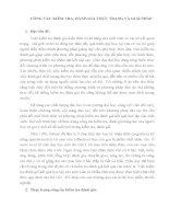 CÔNG TÁC KIỂM TRA, ĐÁNH GIÁ THỰC TRẠNG VÀ GIẢI PHÁP
