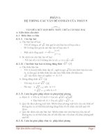 Hệ thống các vấn đề cơ bản của toán lớp 9 kèm theo các bài luyện tập
