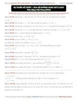 Dự đoán số phức   tọa độ không gian OXYZ 2015   thầy đặng việt hùng