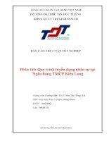 luận văn quản trị nhân lực Phân tích Quy trình tuyển dụng nhân sự tại Ngân hàng TMCP Kiên Long