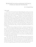ĐỔI MỚI KIỂM TRA ĐÁNH GIÁ HƯỚNG ĐẾN CHUẨN ĐẦU RA VỀ NĂNG LỰC NGOẠI NGỮ CHO SINH VIÊN