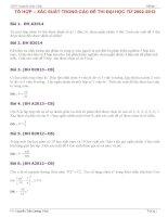 Tuyển tập các bài toán tổ hợp xác suất trong đề thi đại học các năm