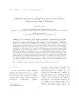 Internationalization of Higher Education in Vietnam Opportunities and Challenges