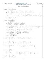 Bài tập tích phân hàm vô tỷ có lời giải