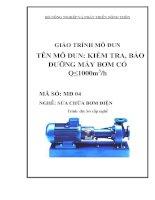 giáo trình mô đun kiểm tra bảo dưỡng máy bơm có q  nhỏ hơn 1000 m3 trên giờ