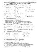 Tổng hợp bài tập  Hệ phương trình