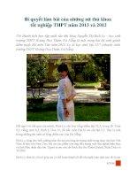 Bí quyết làm bài môn văn của những nữ thủ khoa tốt nghiệp THPT