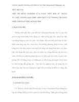 MỘT SỐ KINH NGHIỆM CỦA GIÁO VIÊN KHI SỬ  DỤNG TƯ LIỆU TRONG DẠY HỌC MÔN NGỮ VĂN TRONG TRƯỜNG PHỔ THÔNG Ở MỘT SỐ BÀI HỌC