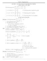 Ôn tập các dang toán 9