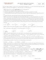 Đề thi thử THPT quốc gia môn vật lý lần 3 năm 2015 trường THPT đa phúc, hà nội