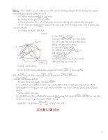 Tài liệu luyện thi vào 10 - Phần Hình học