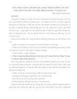 GIẢI PHÁP NÂNG CAO HIỆU QUẢ HOẠT ĐỘNG THÔNG TIN THƯ VIỆN  ĐÁP ỨNG YÊU CẦU ĐỔI MỚI GIÁO DỤC VÀ ĐÀO TẠO