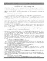 MỘT SÓ BÀI TẬP TỔNG HỢP HOÁ 11-KÌ II