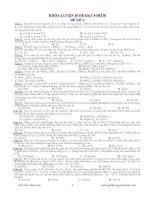 DỰ ĐOÁN ĐỀ THI THPT QUỐC GIA NĂM 2015 MÔN HÓA HỌC - ĐỀ SỐ 2