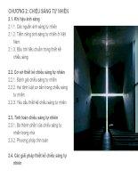 VẬT LÝ KIẾN TRÚC CHƯƠNG 2: CHIẾU SÁNG TỰ NHIÊN