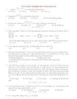 Tài liệu ôn tập hoá học lớp 12 luyện thi đại học 2015 tham khảo (2)