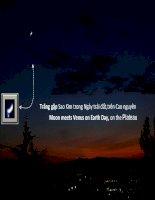 Trăng gặp Sao Kim trong Ngày trái đất,trên cao nguyên -Moon meets Venus on Earth Day, on the Plateau