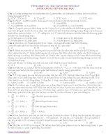 đề thi TN vật lý -có đáp án hay