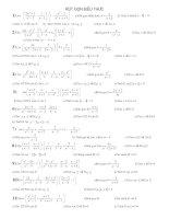 64 bài rút gọn ôn tập học kỳ II
