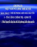 Bai 27 Che do phong kien nha Nguyen.