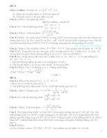 Tài liệu ôn thi tốt nghiệp THPT môn toán tham khảo luyện thi