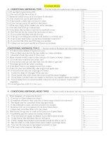 Conditional sentenses exercises