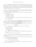 Bài tập chủ đề: Liên kết gen-HVG