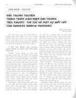 Đặc trưng truyện trinh thám hậu hiện đại trong tiểu thuyết tin tức về một vụ bắt cóc của Gabriel Garcia Marquez
