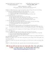 Đề thi HK II môn Sinh Học 8 - Huyện Lương Sơn 09