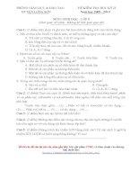 Đề thi HK II môn Sinh Học 8 - Huyện Lương Sơn 10