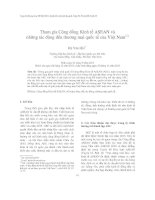 Tham gia Cộng đồng Kinh tế ASEAN và những tác động đến thương mại quốc tế của Việt Nam