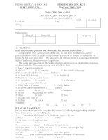 Đề thi HK II môn Tiếng Anh 6 - Huyện Lương Sơn 10