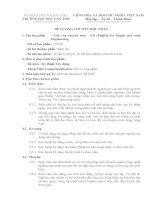 đề cương chi tiết học phần anh văn chuyên môn - CĐ