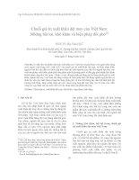 Chuỗi giá trị xuất khẩu dệt may của Việt Nam Những bất lợi, khó khăn và biện pháp đối phó