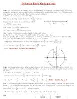 Tài liệu ôn tập thi THPT quốc gia môn vật lý hay có lời giải chi tiết