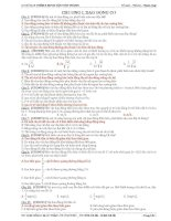 Bài tập trắc nghiệm tổng hợp phần lý thuyết môn vật lý ôn thi THPT quốc gia có đáp án