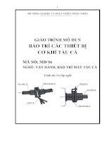 giáo trình bảo trì các thiết bị cơ khí tàu cá