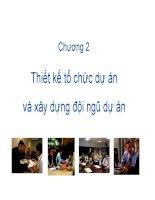 Slide bài giảng môn quản trị dự án: Chương 2: Tổ chức dự án