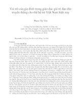 Vai trò của gia đình trong giáo dục giá trị đạo đức truyền thống cho thế hệ trẻ Việt Nam hiện nay