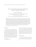 Vai trò của báo chí cách mạng trong đời sống chính trị Việt Nam 1925-1945