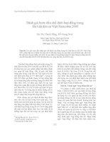 Đánh giá bước đầu chế định hợp đồng trong Bộ luật dân sự Việt Nam năm 2005
