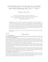 Vấn đề tiếp nhận và bình giải Truyện Kiều trên Nam Phong tạp chí ( 1917 - 1934 )