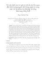 Về việc dịch các từ ngữ có tính ẩn dụ liên quan đến hình tượng người anh hùng, quân tử trong một vài tác phẩm thơ Đường từ tiếng Hán sang tiếng Việt