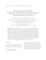 Khả năng áp dụng mô hình DNDC (Denitrification – Decomposition) xác định lượng Cacbon hữu cơ trong đất ở các hệ sinh thái nông nghiệp đồng bằng ven biển tỉnh Quảng Trị
