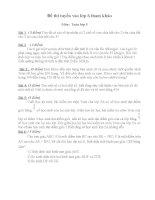 Đề và đáp án luyện thi vào lớp 6 môn  Toán tham khảo( đề số 1)