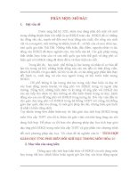 TÍCH HỢP GIÁO DỤC ỨNG PHÓ BIẾN ĐỔI KHÍ HẬU TRONG MÔN HÓA 11